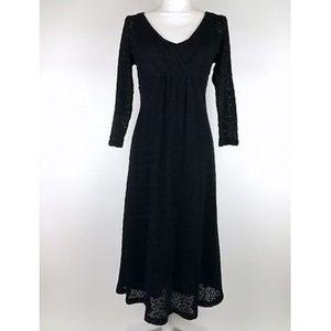 Ann Taylor LOFT sweater dress women's size 8 black